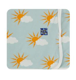 kickee pants spring sky partial sun swaddling blanket