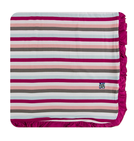 kickee pants geology stripe ruffle toddler blanket