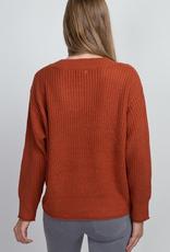 rayni roll trim sweater