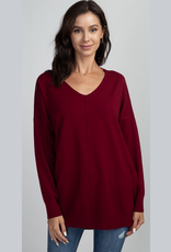 sabra front seam sweater
