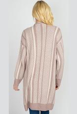 cassia stripe 2 pocket cardigan