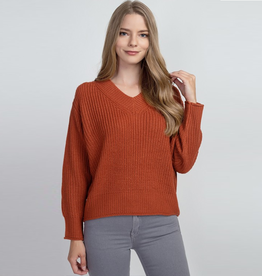 rayni roll trim sweater