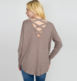 lainey cross back sweater