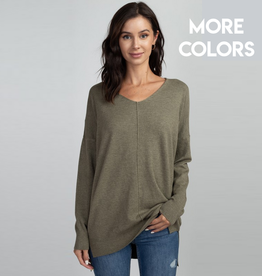 sabra front seam sweater
