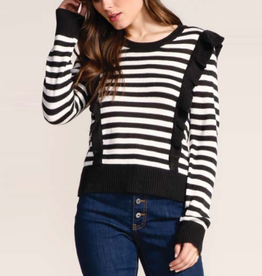mime your business sweater with ruffle