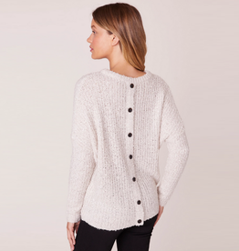 no going back sweater with button back
