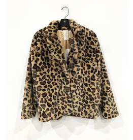 lady leopard fur jacket