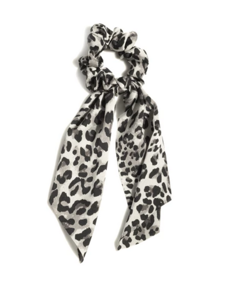 shiraleah big bow scrunchie, leopard