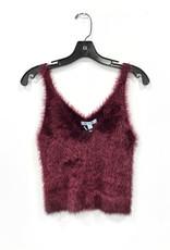 fuzzy knit sweater cami