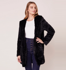 its shawl good faux fur coat with oversized hood