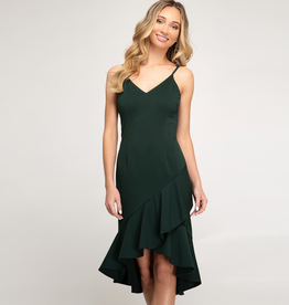 flounce cami midi dress