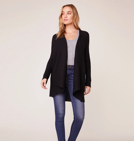 draw the line ribbed cardigan