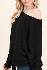 padma poodle knit tie front top