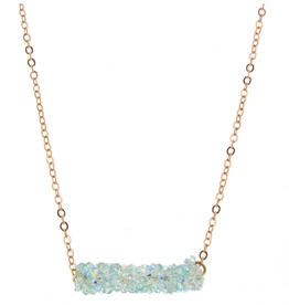 kids glitter bar necklace