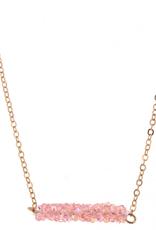 kids glitter bar necklace