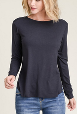 shelby side slit long sleeve tee