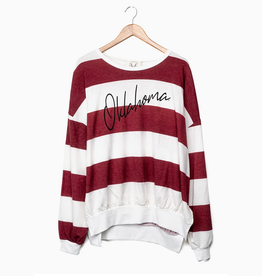 LivyLu oklahoma thin script side slit sweatshirt