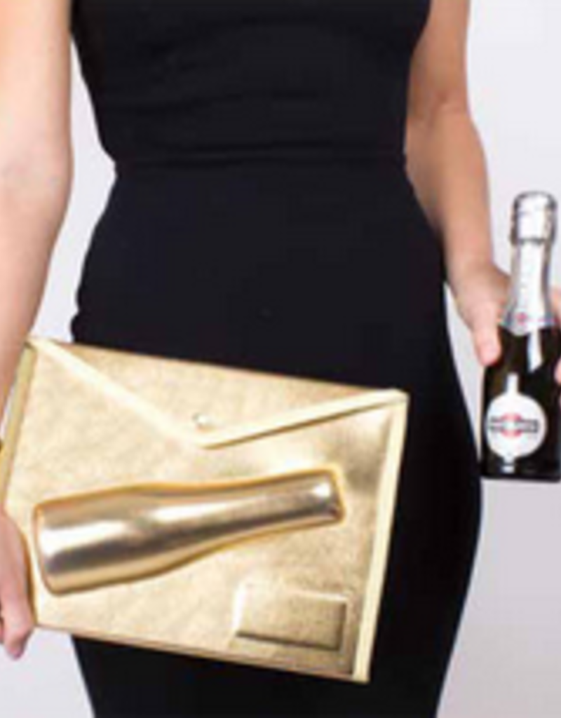 small 3D champagne pouch