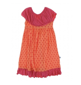 kickee pants nectarine leaf lattice villa dress