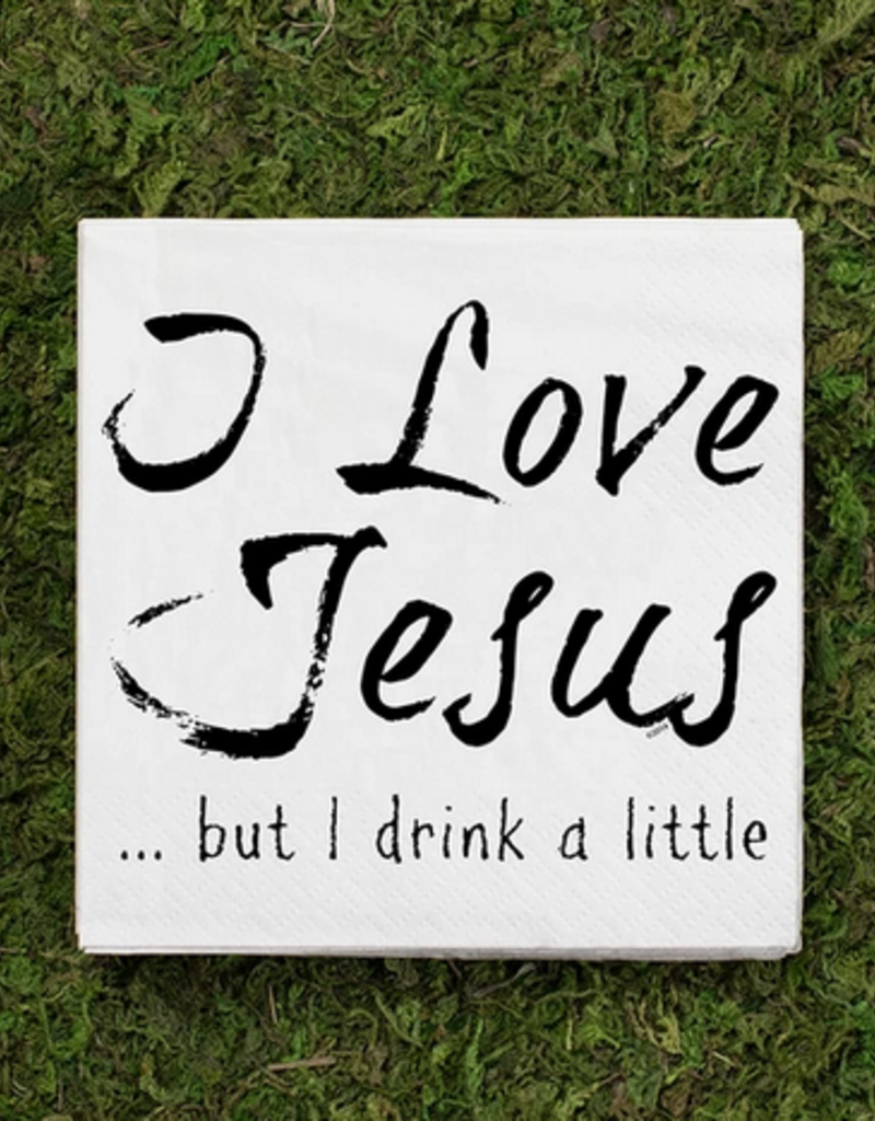 jesus drinks cocktail napkins 20ct