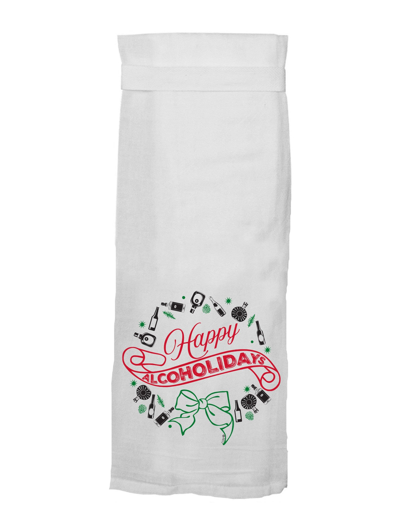 happy alcoholidays tea towel FINAL SALE
