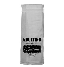 adulting is bs tea towel