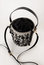 violet & brooks maisie grey wool embroidered bucket bag