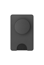 popwallet+ black vegan leather