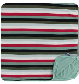 kickee pants christmas multi stripe toddler blanket