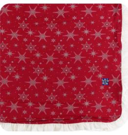 kickee pants crimson snowflakes ruffle toddler blanket