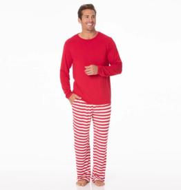 kickee pants candy cane stripe 2019 mens long sleeve pajama set
