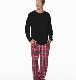 kickee pants christmas plaid 2019 mens long sleeve pajama set