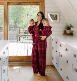 kickee pants christmas plaid 2019 womens long sleeve collared pajama set