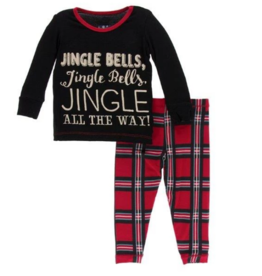 kickee pants christmas plaid 2019 long sleeve pajama set