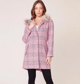 pink slip plaid coat
