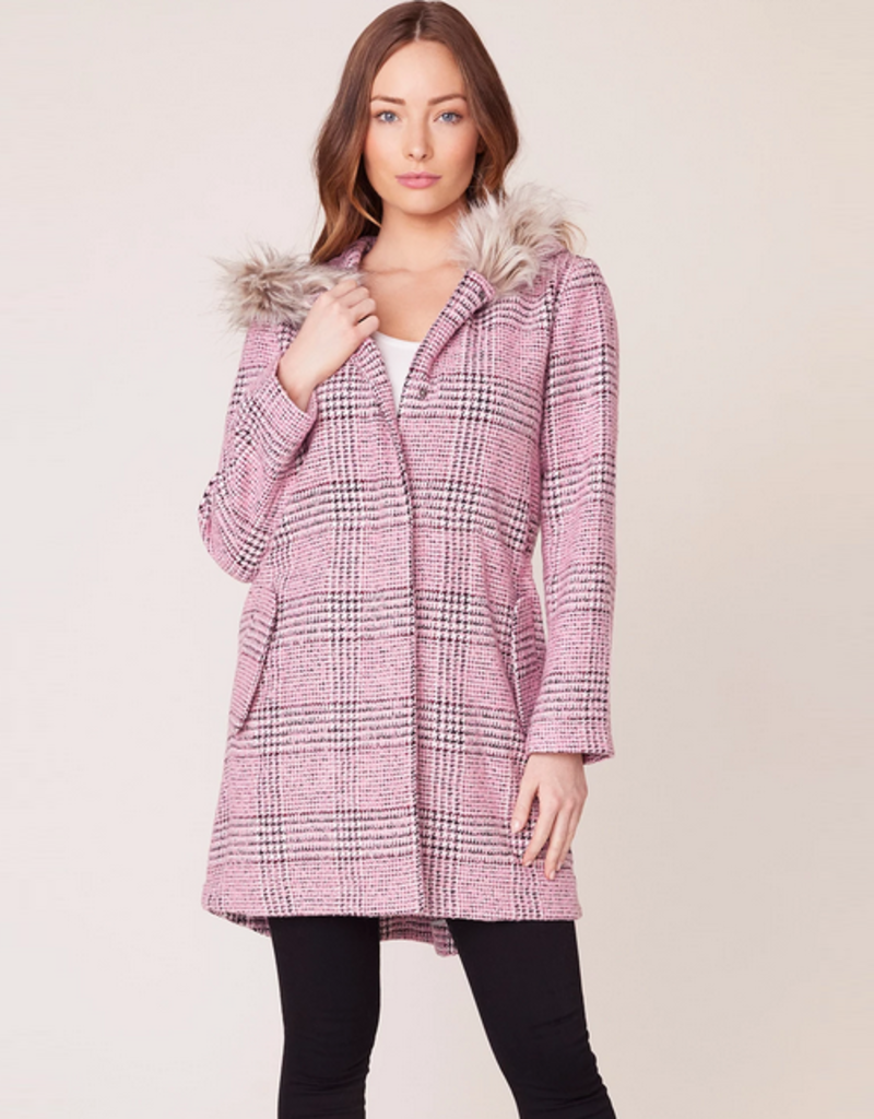 pink slip plaid coat