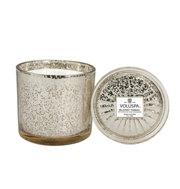 voluspa blond tabac grande maison candle with lid