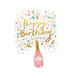 calypso cards happy birthday champagne card