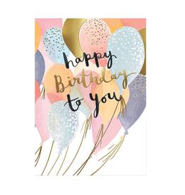 Calypso cards happy birthday balloons card