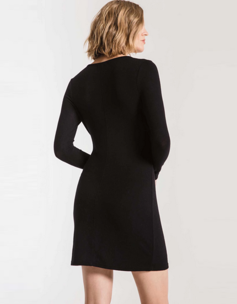z supply the marled wrap dress