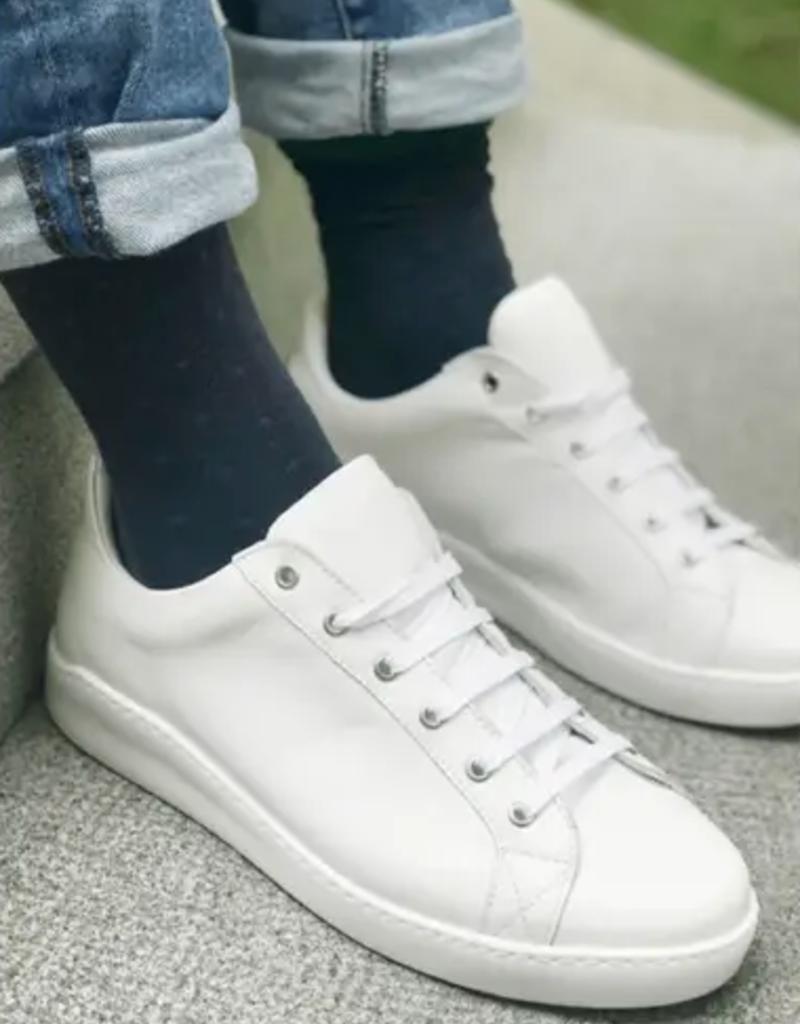 spotted navy socks