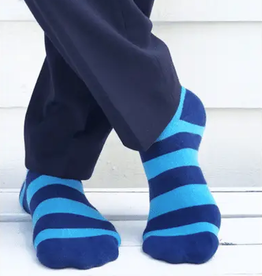 sky blue striped socks