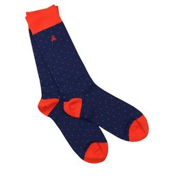 spotted orange socks (womens)