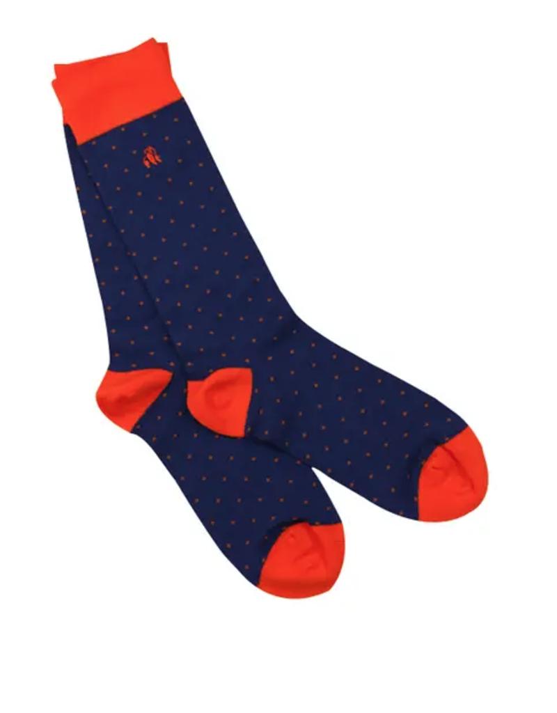 swole panda spotted orange socks (womens) FINAL SALE