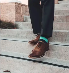 lime green striped socks