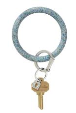 oventure silicone big o key ring- confetti