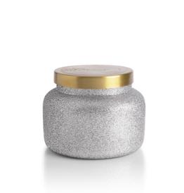 capri blue frosted fireside silver glam jar 19oz