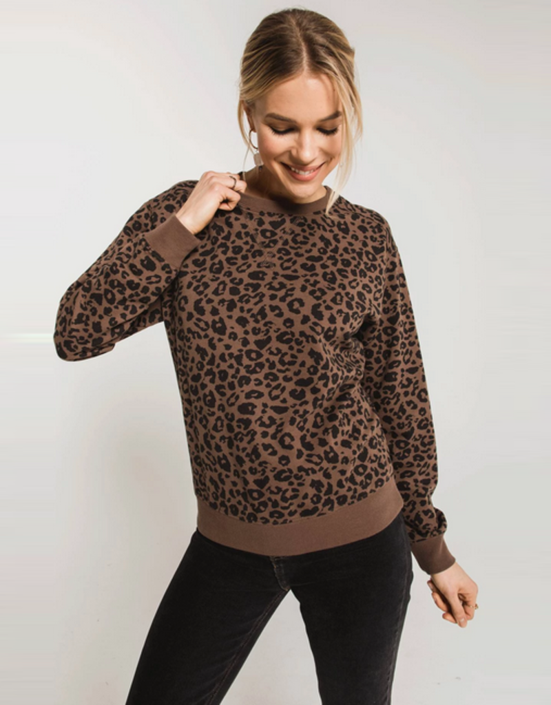 z supply the leopard pullover