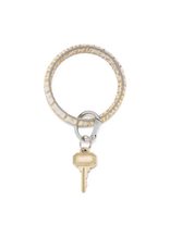 oventure luxe croc embossed big O key ring- gold rush