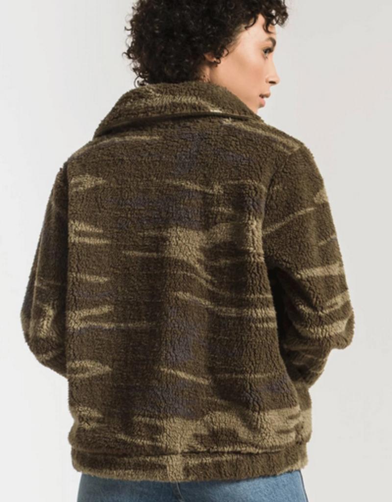 the camo sherpa crop jacket